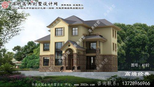 海安县低调奢华的欧式风格三层别墅效果图