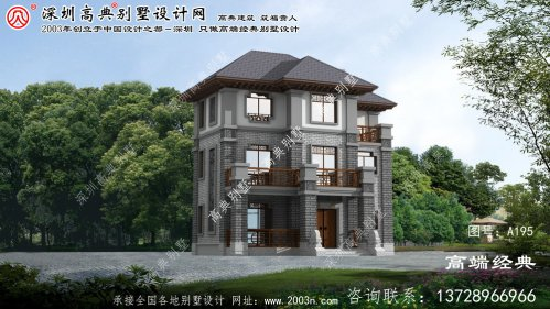 崇川区儒雅气质中式风格自建别墅设计图纸