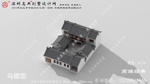 徽州区中式别墅建筑房屋设计图