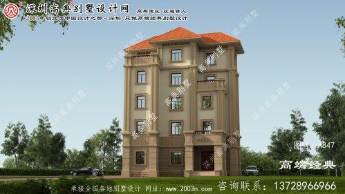 长泰县五层乡村别墅设计,占地160平