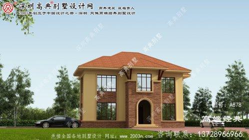 泰宁县两层豪华别墅外观设计效果图