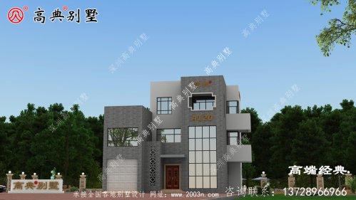 现代风格三层别墅户型图,想要采光好复式少不
