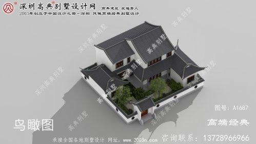 衡南县美丽高雅的二楼中国式别墅设计图。