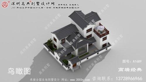 隆回县漂亮又大方的三层中式别墅