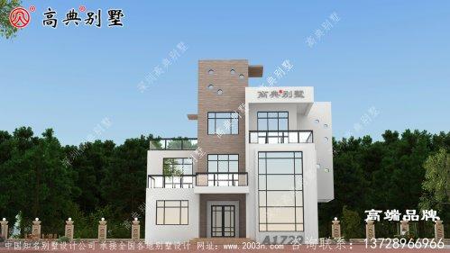 设计自建房三层新农村房屋设计图