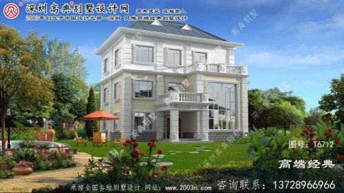 石家庄市法式风格的三层别墅,带给您全新的居