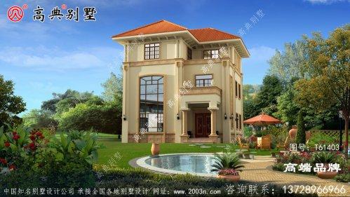 农村三层房屋设计图纸室内客厅挑空设计,造型