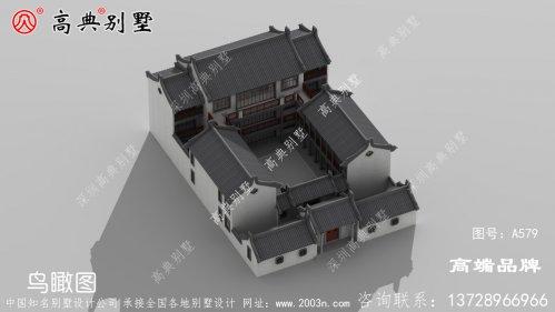 家庭建房设计简约时尚的中式庭院别墅