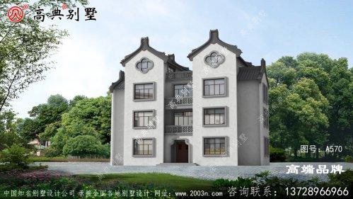 农村三层中式别墅设计图低调中尽显奢华