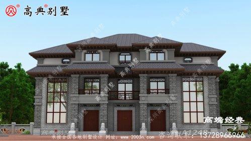 柳州市新农村三层房屋别墅设计图,带车库