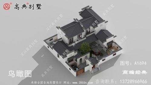 义乌市自建农村二层住宅户型图,带小院,享受