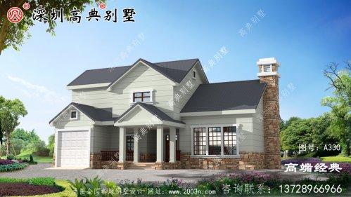 造型气派的农村豪宅户型图,外观高端,主体3