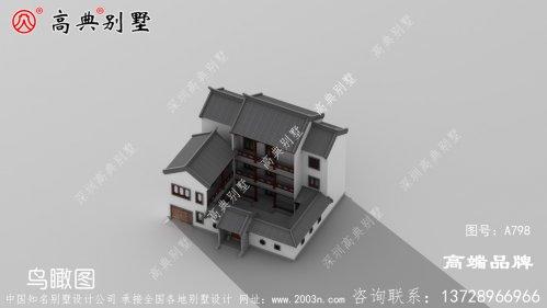 农村三层中式别墅,外观时尚大