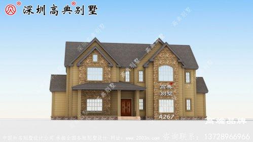 造价经济,施工简单的二层小别墅户型,屋顶错