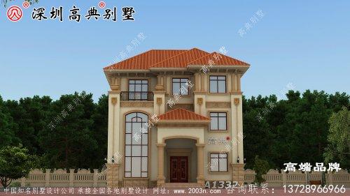 大气三层欧式别墅设计图,多面开窗,南北通透,功能一应俱全