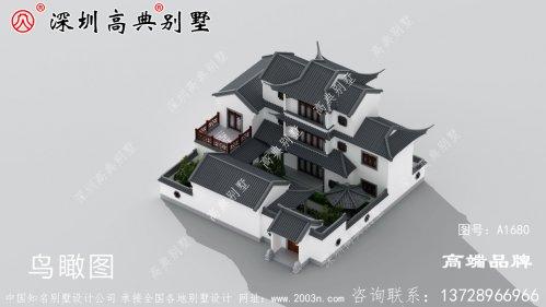 农村自建房别墅设计图,具有现代感,外观不易过时