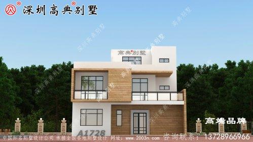 三层的农村自建别墅户型图,带露台