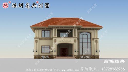 农村自营住宅二层外观效果图,大气内部布局无可挑剔。