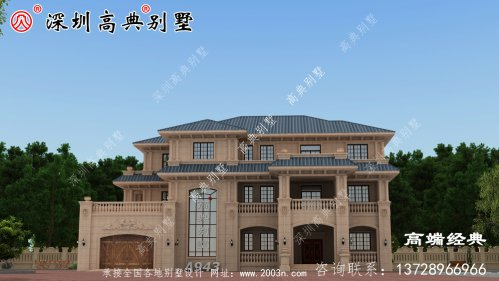 农村三层小别墅,外观美观,回乡盖房首选。