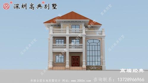 农村三层大气别墅图片,建这样的房子,出去肯定有面儿
