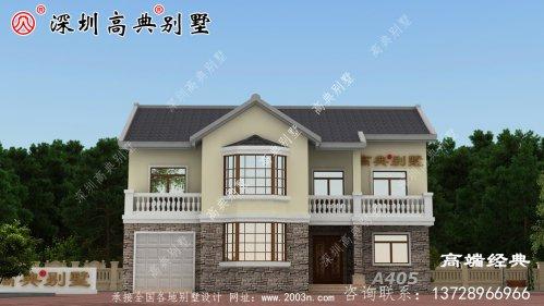 美丽的农村自建二层普通房,宽敞明亮,足够的