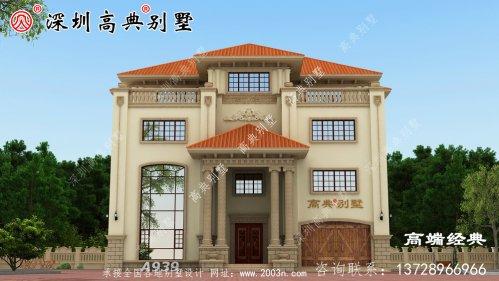 三层半四层别墅设计图