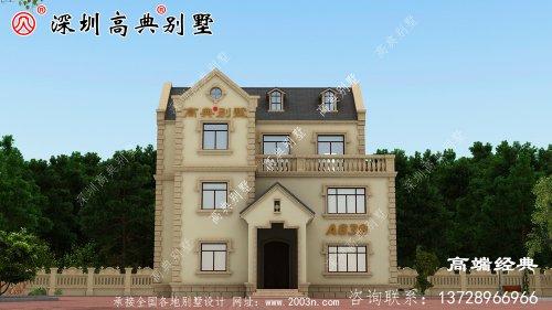 欧式豪华二层半别墅设计,高端自建方案。