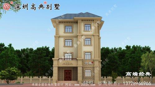这栋别墅外观势头强,大气美丽,回乡盖房子的好选