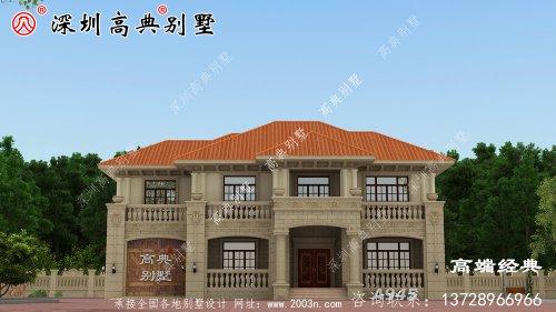 农村二层最美房屋,经济实用,全国各地抢着建