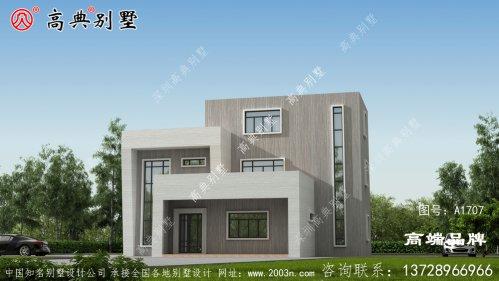 现代风格建筑装饰简洁灰白外墙涂料美观大方
