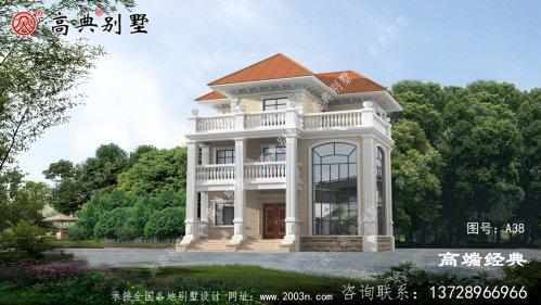 乡村欧式风格三层小洋楼设计图