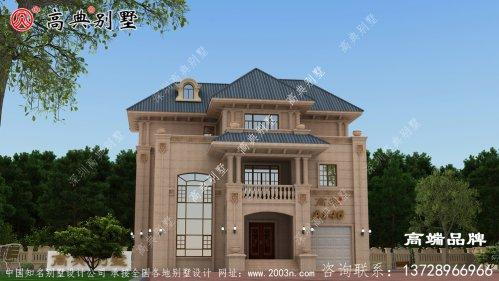 复式的三层别墅,非常适合我们农村自建,而且外带车库